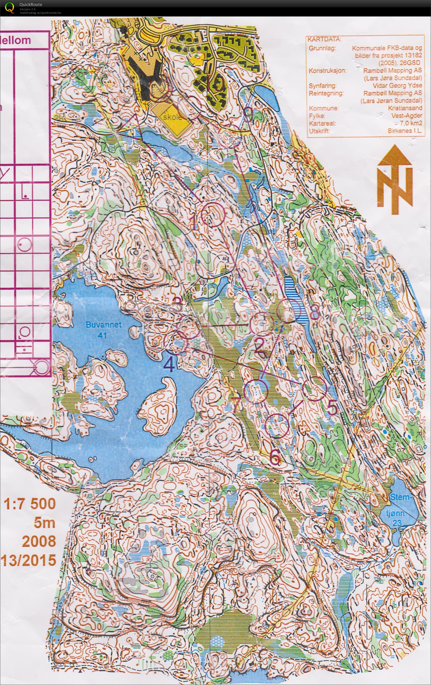 KOK 2dagers mellom March 21st 2015 Orienteering Map from Marius