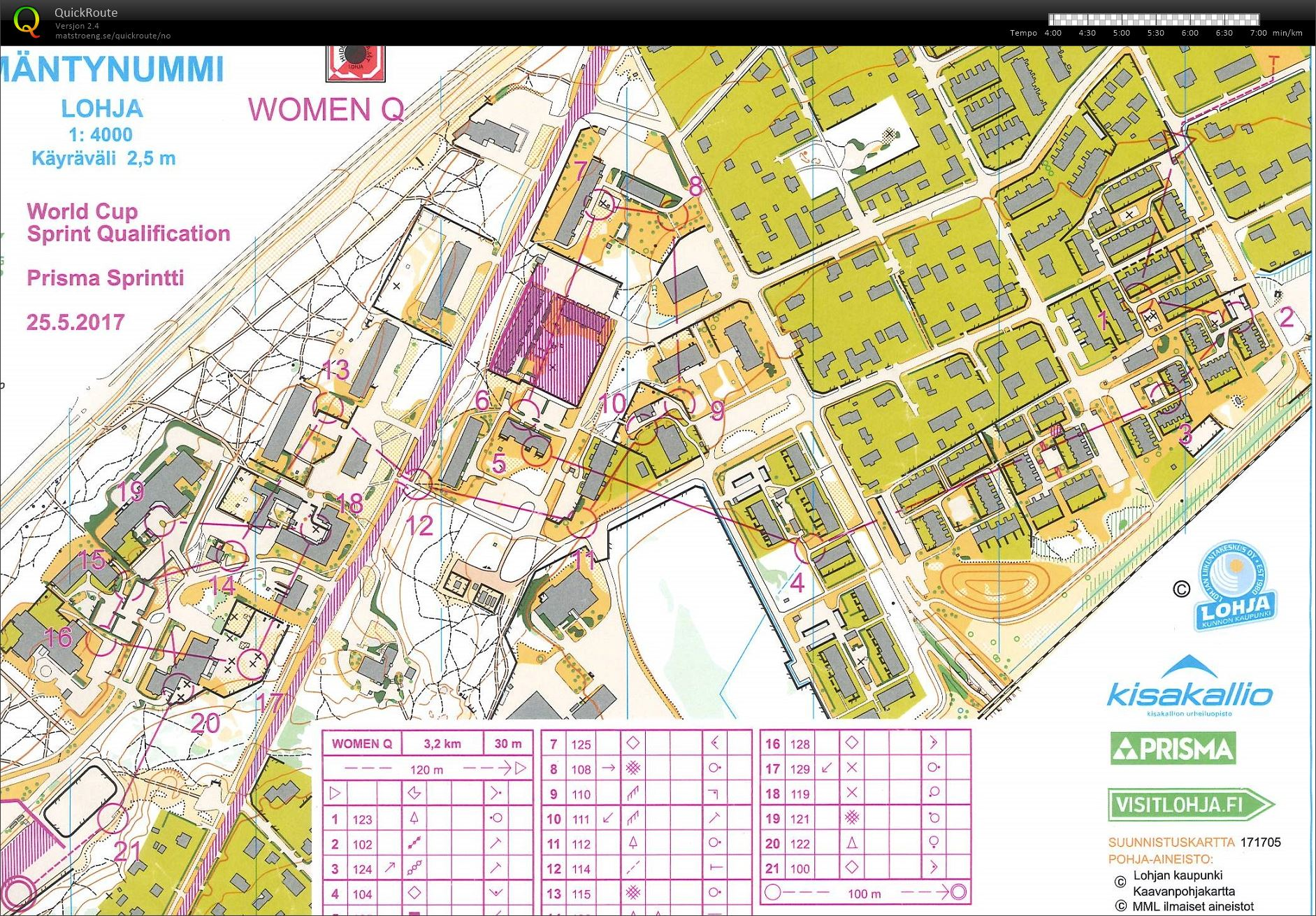 WC sprint Q May 25th 2017 Orienteering Map from Marianne Andersen